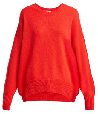 Allude Round Neck Cashmere Sweater - Womens - Red