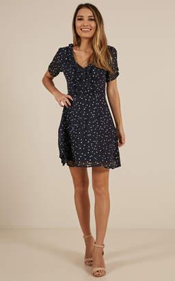 Showpo She Is Wonderful Dress in Navy Print - 18 (XXXL) Casual