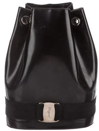 Salvatore Ferragamo Leather Bucket Backpack