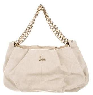 Christian Louboutin Canvas Pleated Tote