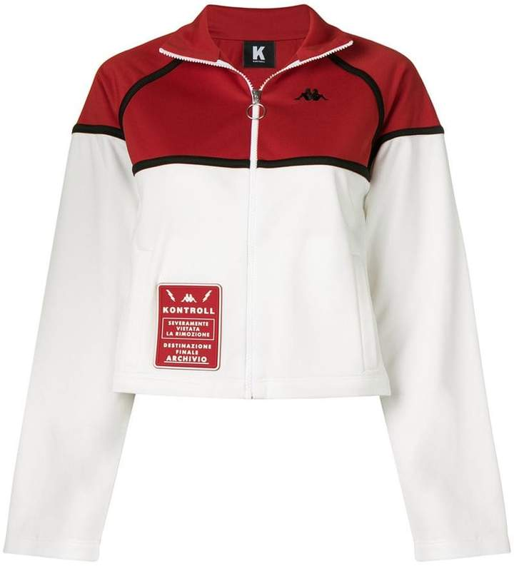 Kappa Kontroll cropped zip-up sweater