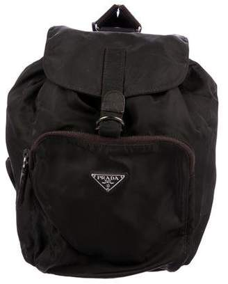 Prada Vela Drawstring Backpack