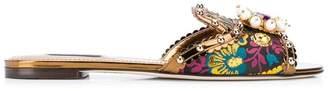 Dolce & Gabbana embellished flat sandals