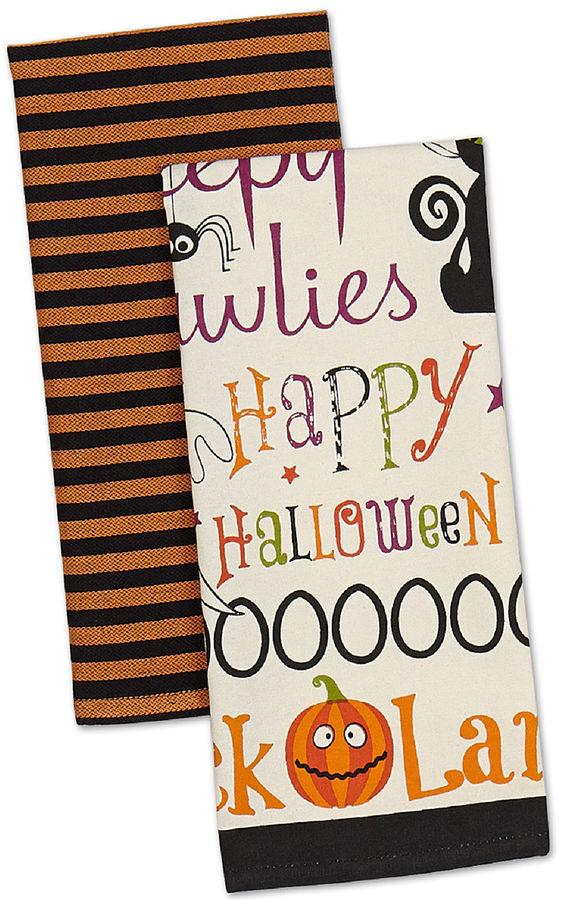 JCP Happy Halloween Set of 2 Kitchen Towels