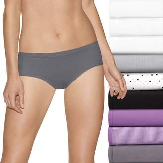 Hanes Women's Ultimate Comfort Stretch 9-Pack Hipster Panties 41KSP9