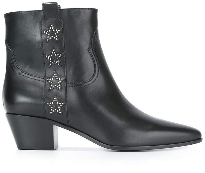 Saint Laurent 'Rock 40' side star ankle boots