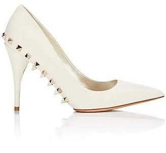 Valentino Women's Jaw Studs Suede Pumps - White