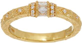 Judith Ripka 14K Clad Diamonique Estate Style Ring