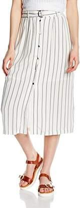 New Look Women's Tie Waist Popper Striped Skirt,8