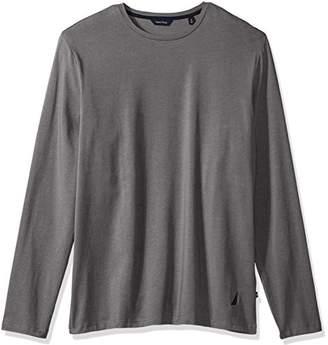 Nautica Men's Standard Long Sleeve Solid Crew Neck Shirt