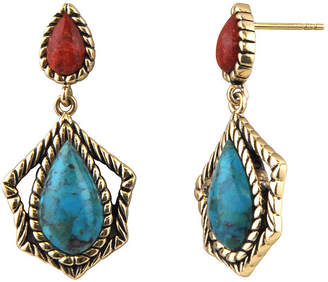 Artsmith BY BARSE Art Smith by BARSE Brass Turquoise and Amber Drop Earrings