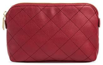 A New Day Faux Leather Clutch with Zip Closure Maroon Berry Maroon