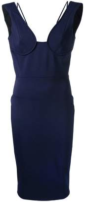Victoria Beckham off shoulder bustier dress