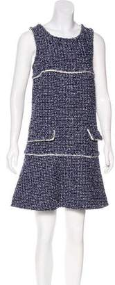 Chanel Sleeveless Tweed Dress