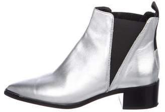 Acne Studios Metallic Pointed-Toe Boots