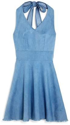 30c5f7760ac9 Miss Behave Girls  Chambray Halter Dress