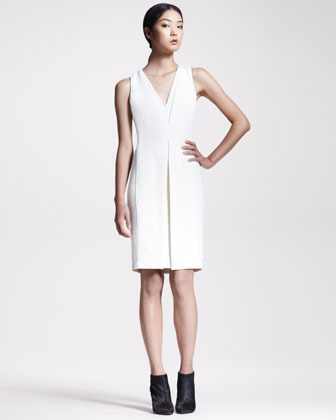 Alexander Wang Inverted Crepe Sheath Dress