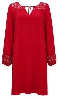 Wallis Berry Lace Insert Shift Dress
