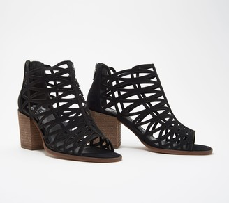 9896dad0a4f4 Vince Camuto Leather Cut-Out Heeled Sandals- Kevston