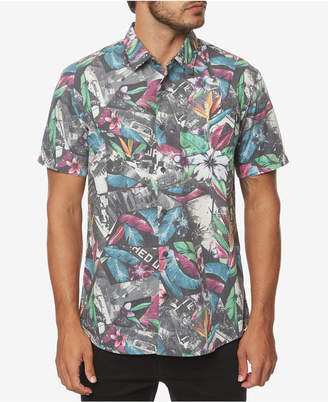 O'Neill Men Livin Later Classic-Fit Tropical-Print Shirt