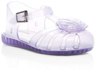 Mini Melissa Girls' Mini Aranha Xii Jelly T-Strap Sandals