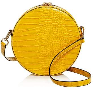 Aqua Medium Circle Croc-Embossed Crossbody - 100% Exclusive