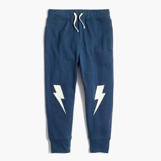 J.Crew Boys' glow-in-the-dark sweatpants with lightning bolt knee patches