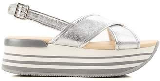 Hogan H294 Silver Sandals