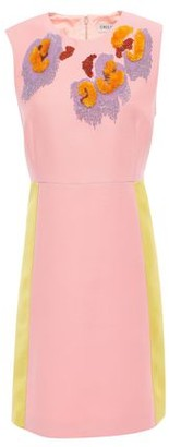 Emilio Pucci Satin-paneled Embellished Crepe Mini Dress