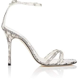 Manolo Blahnik Women's Paloma Snakeskin Sandals