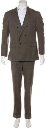 Brunello Cucinelli Wool & Mohair Double-Breasted Suit