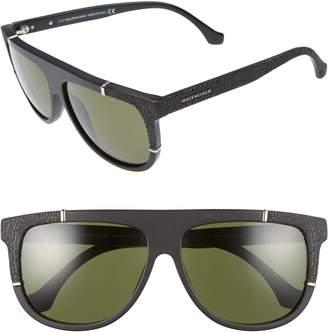 Balenciaga 58mm Flat Top Sunglasses
