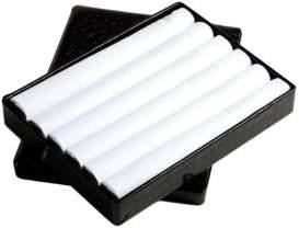 Black & Brown Black Brown Cotton Handkerchiefs - Set of 6