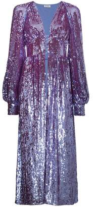 ATTICO long sleeve sequin embellished robe