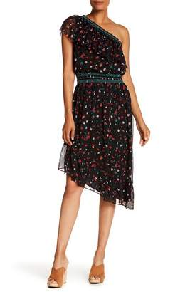 Joie Hafsa One Shoulder Silk Dress