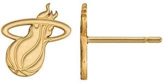 Logoart LogoArt NBA Miami Heat 14kt Yellow Gold Stud Earrings