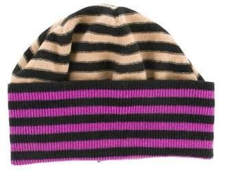 Sonia Rykiel Virgin Wool Stripe Beanie
