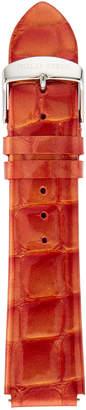 Philip Stein Teslar Patent Leather Alligator-Print Watch Strap, Red
