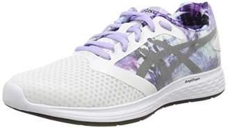 Asics Women's Patriot 10 Sp Running Shoes, (White/Black 100)