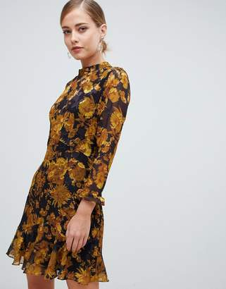 Whistles Eleanor mini dress in mackintosh print