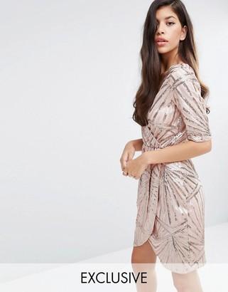 Club L Kimono Wrap Sequin Dress $83 thestylecure.com