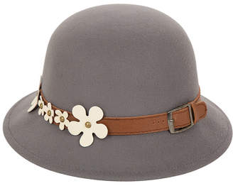 Cloche Glitzhome Hat Band with Buckle and Flowers