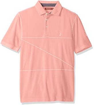 Nautica Men's Classic Fit Short Sleeve Polo Shirt with Stitching Detail