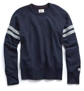 Todd Snyder + Champion Striped Raglan Sweatshirt In Original Navy