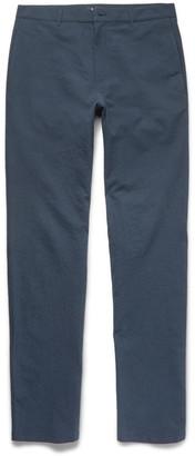Slim-Fit Textured Stretch-Cotton Chinos