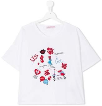 Miss Blumarine teen multi-print T-shirt