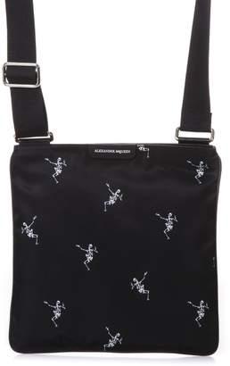Alexander McQueen Dancing Skeleton Black Messenger Bag