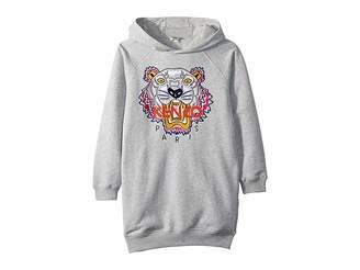 Kenzo Hooded Tiger Fleece Dress (Big Kids)