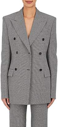 CALVIN KLEIN 205W39NYC Women's Houndstooth Wool Double-Breasted Jacket