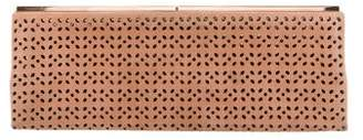 Jimmy Choo Suede Laser Cut Clutch